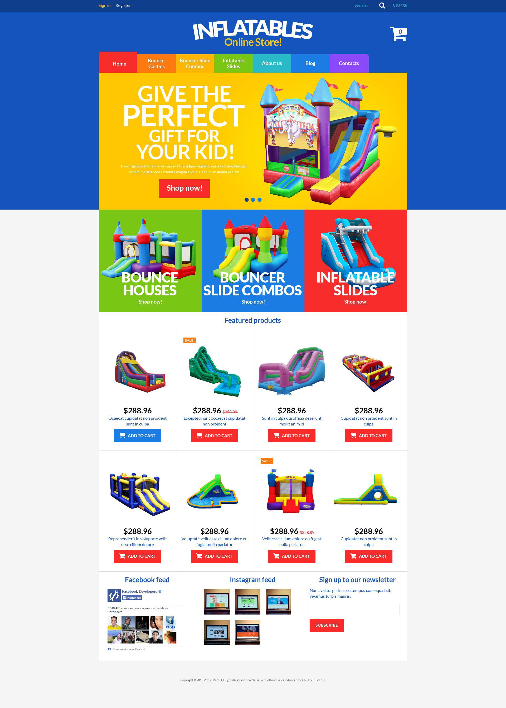 """""""All-Purpose Inflatables"""" - VirtueMart шаблон №52548"""