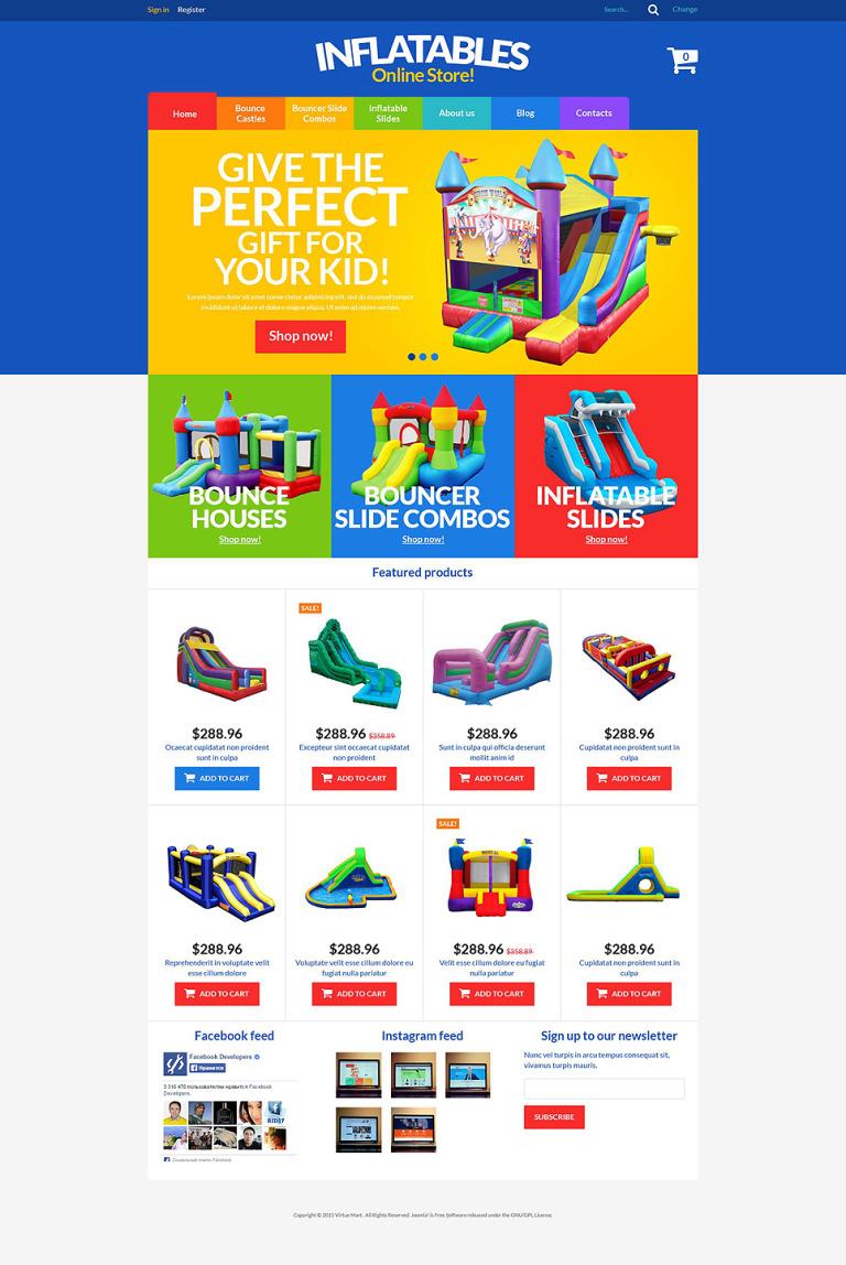 All-Purpose Inflatables VirtueMart Template New Screenshots BIG