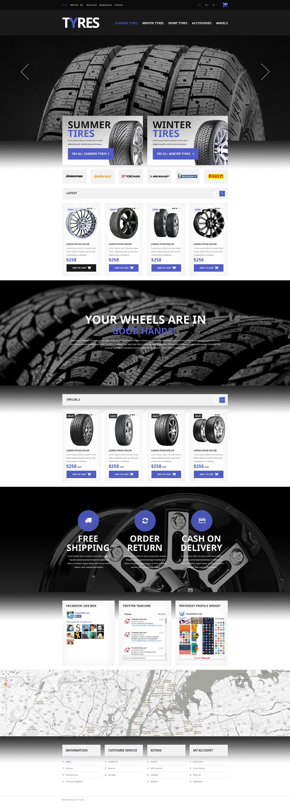 Automobile Tires OpenCart Template New Screenshots BIG