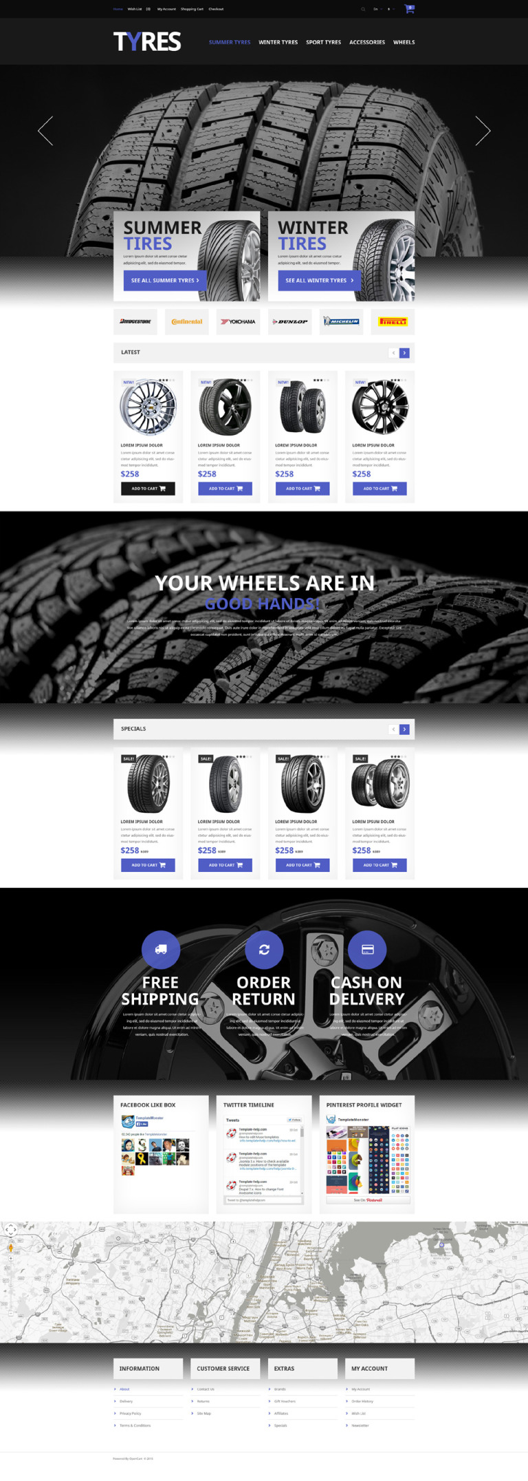 Automobile Tires OpenCart Template New Screenshots BIG