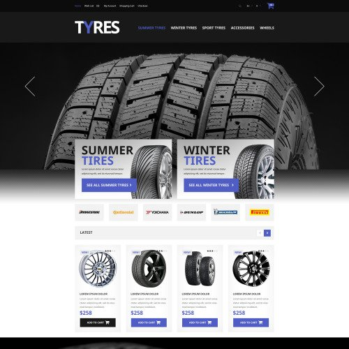 Tyres - OpenCart Template based on Bootstrap