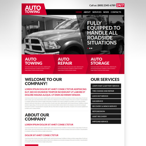Auto Towing - Joomla! Template based on Bootstrap