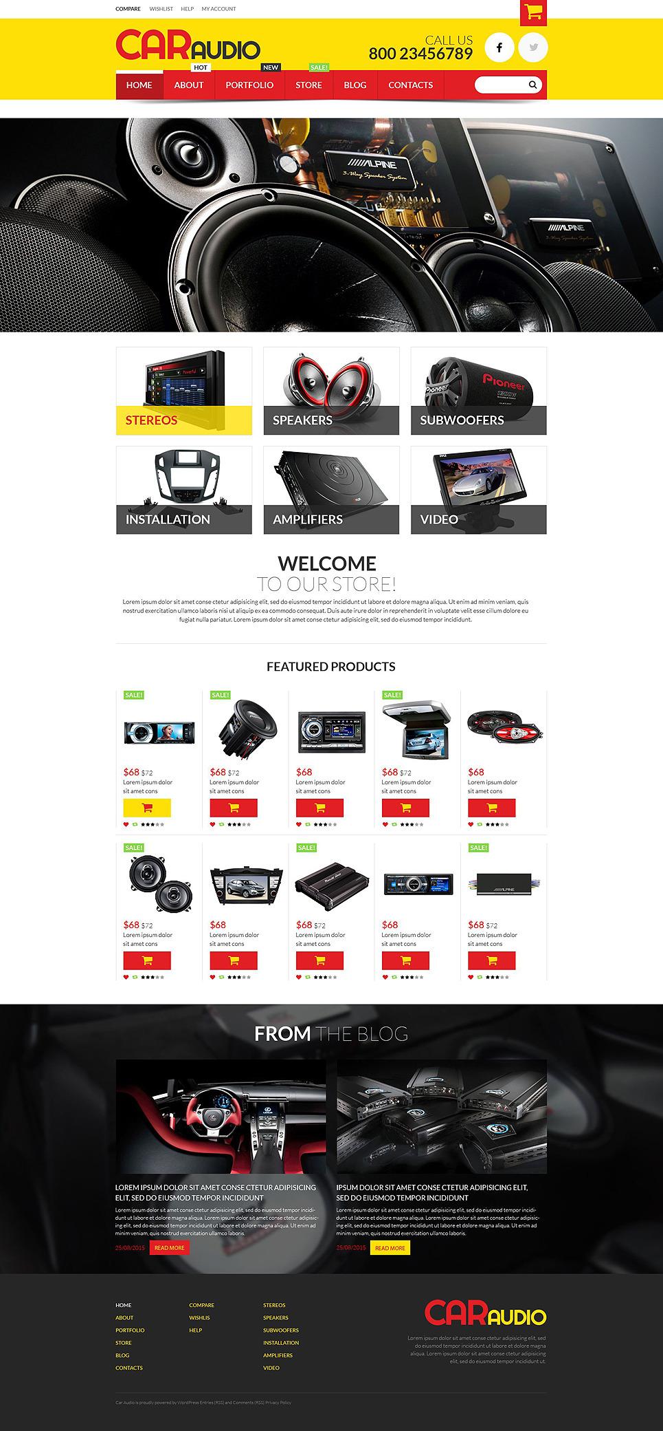 Car Audio Video Equipment WooCommerce Theme New Screenshots BIG