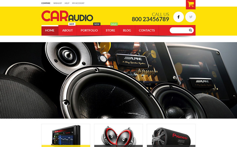 Car Audio Video Equipment WooCommerce Theme