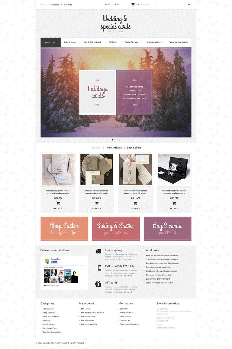 Cards Store PrestaShop Theme New Screenshots BIG