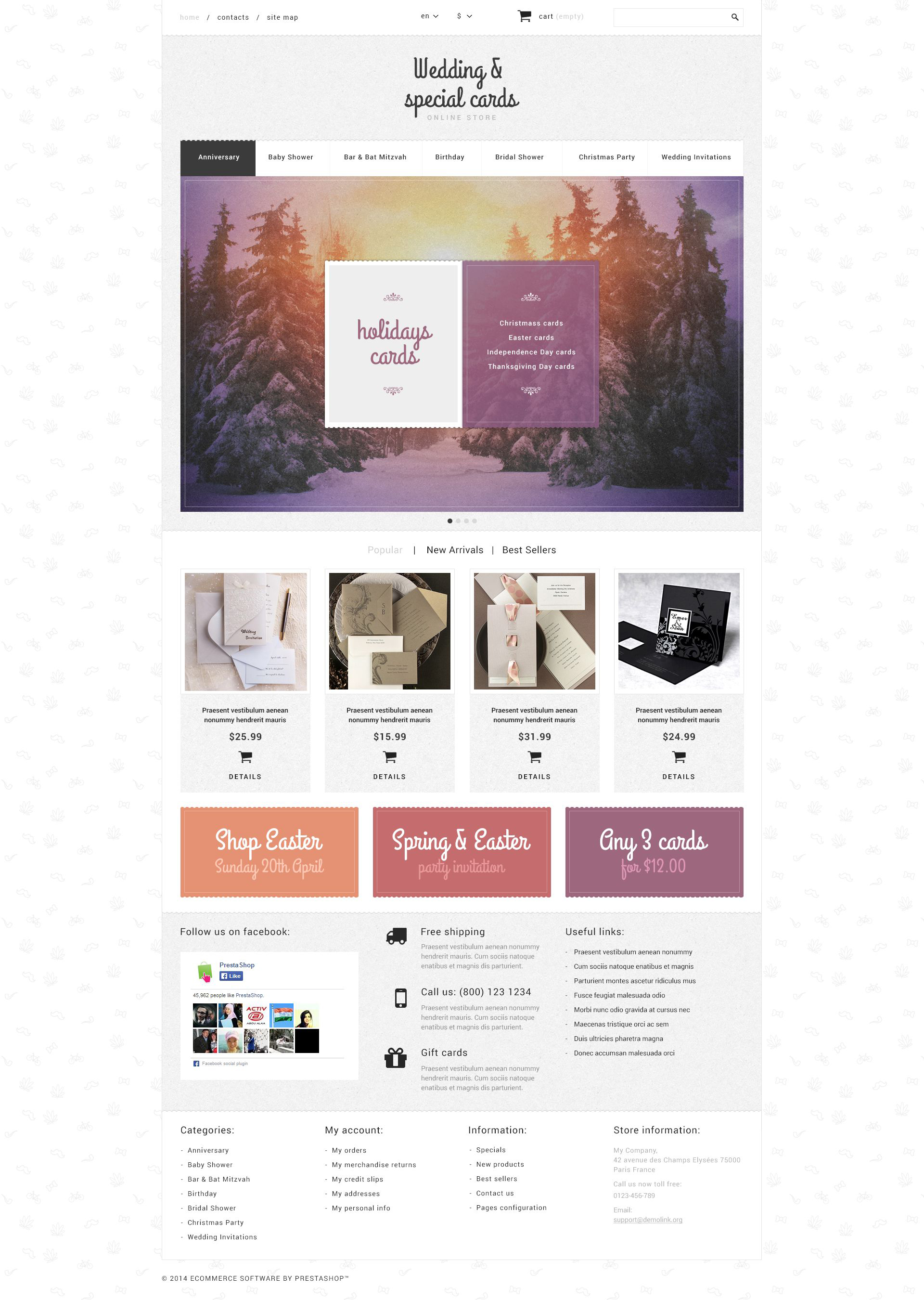 Cards Store PrestaShop Theme