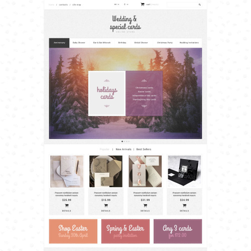 Wedding & Special Cards - PrestaShop Template based on Bootstrap
