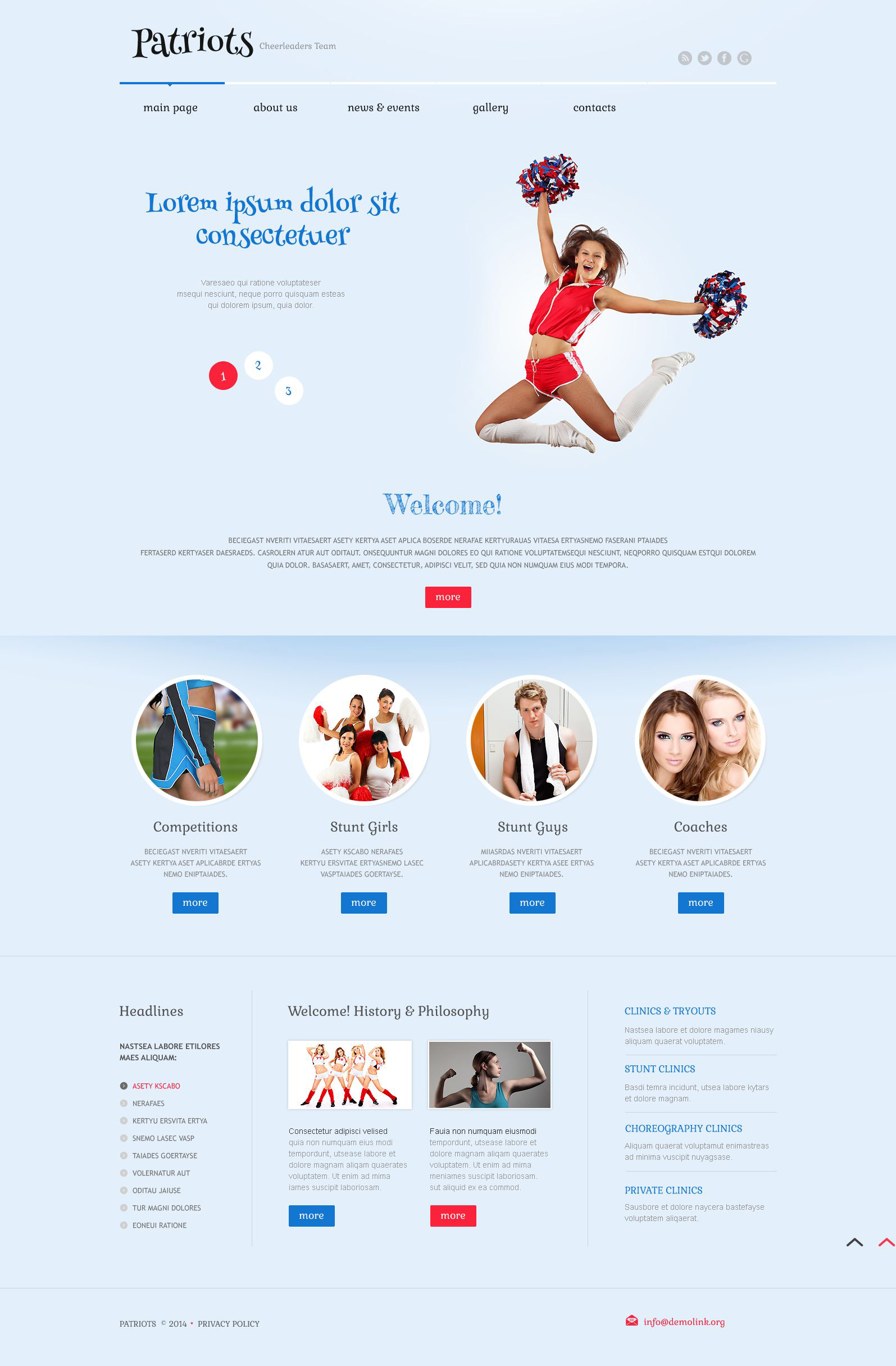 Cheerleading Responsive WordPress Theme - screenshot