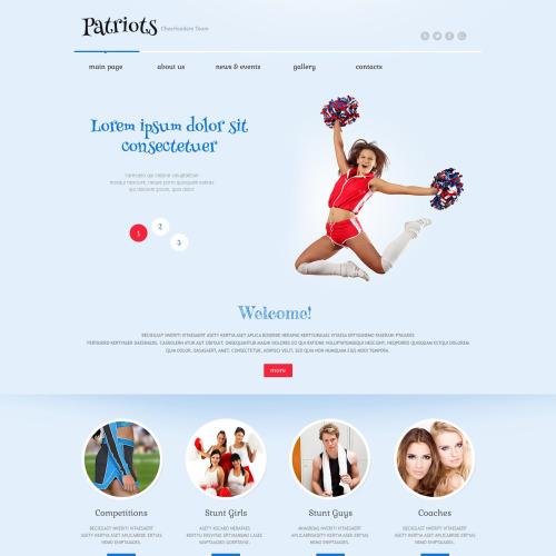 Patriots Cheerleading Club - WordPress Template based on Bootstrap