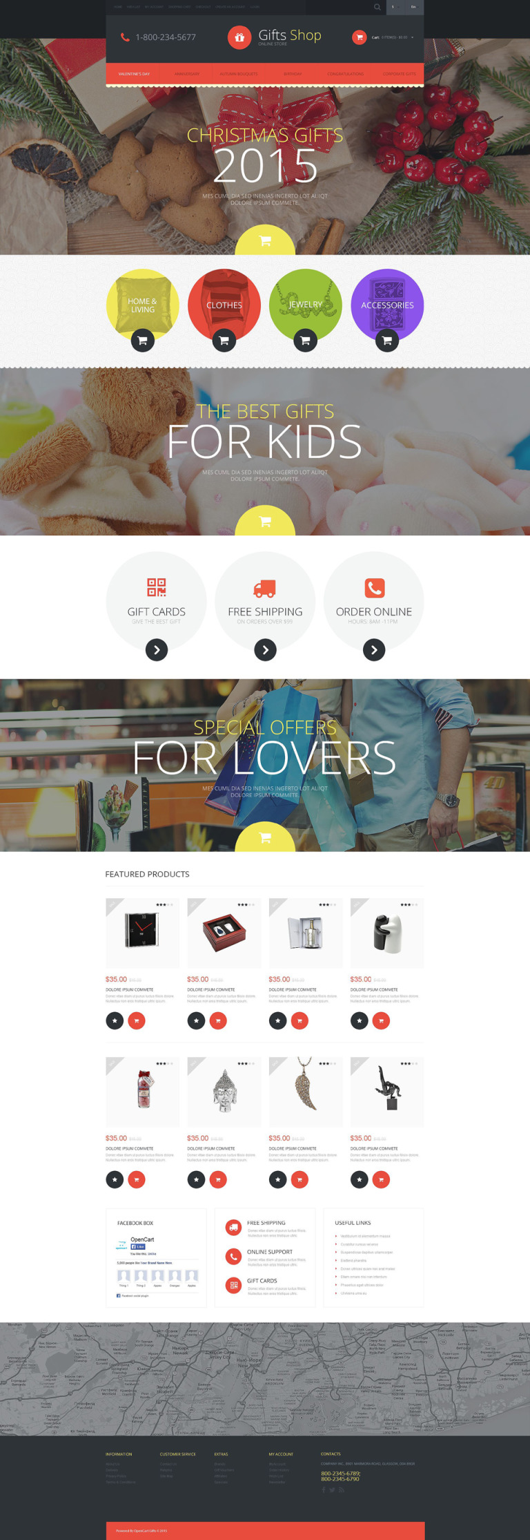 Christmas Gifts Store OpenCart Template New Screenshots BIG