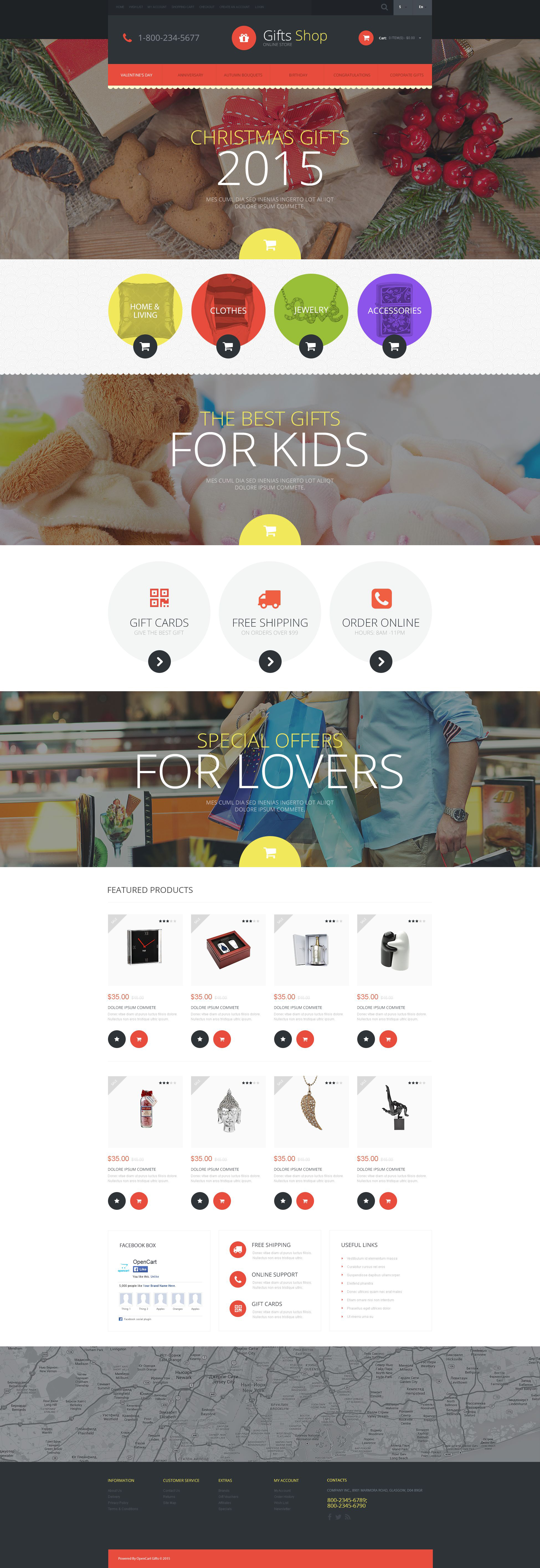 Christmas Gifts Store OpenCart Template - screenshot