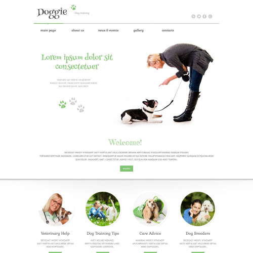 Doggie - WordPress Template based on Bootstrap