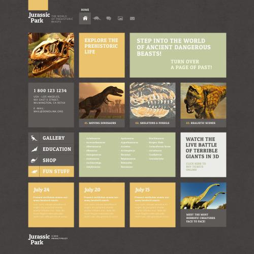 Jurassic Park - WordPress Template based on Bootstrap