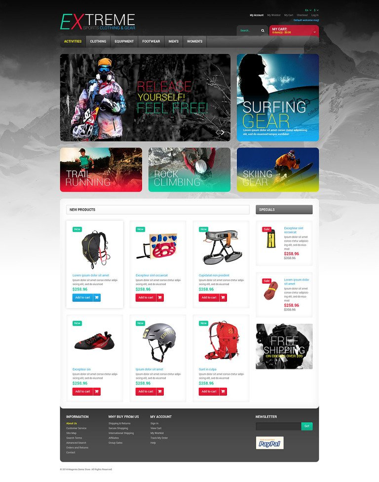 Effective Online Store Magento Theme New Screenshots BIG