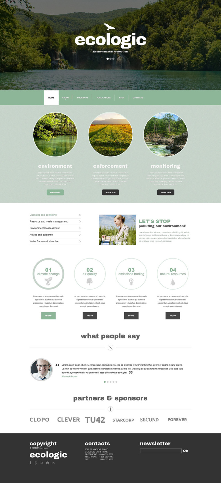 Environmental Responsive Drupal Template New Screenshots BIG