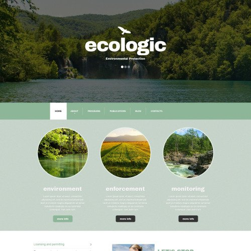 Ecologic - Responsive Drupal Template