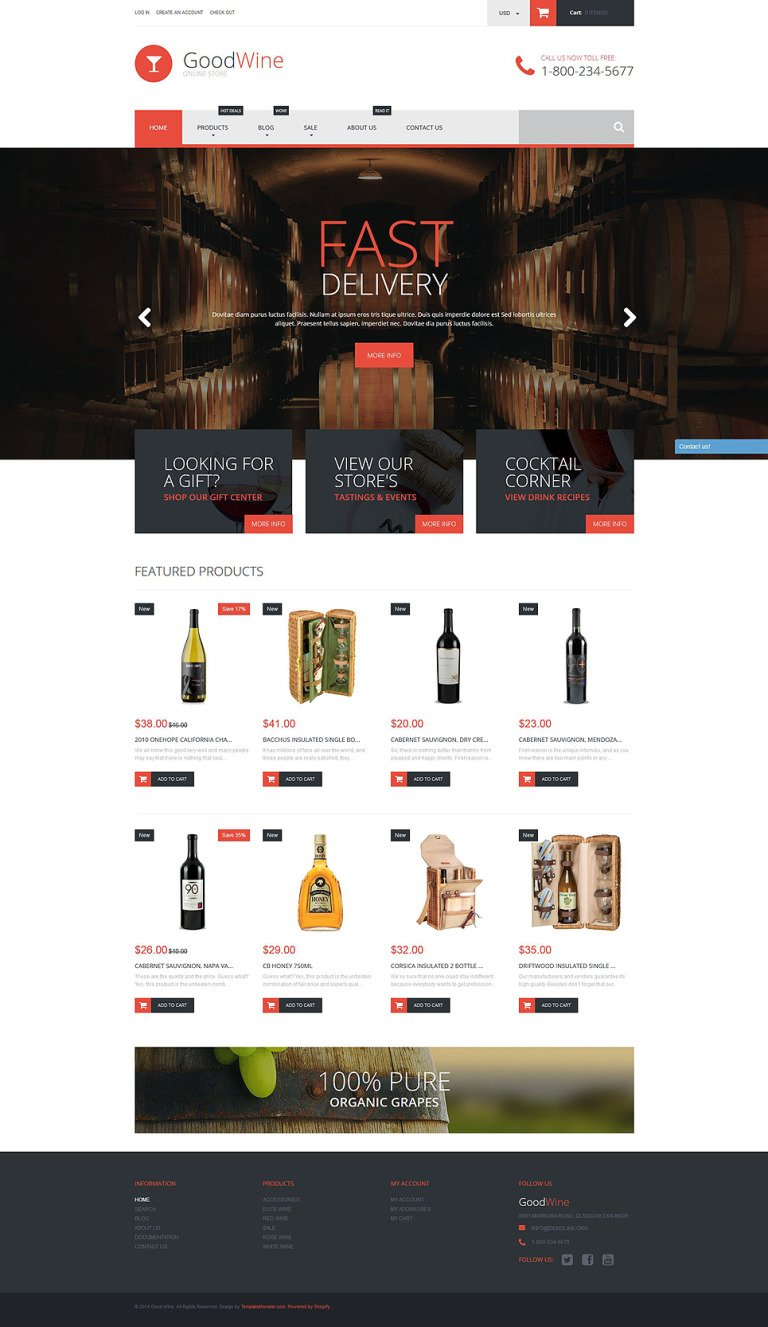 Excellent Wine Shopify Theme New Screenshots BIG