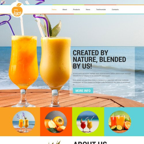 Orange Juice - Joomla! Template based on Bootstrap