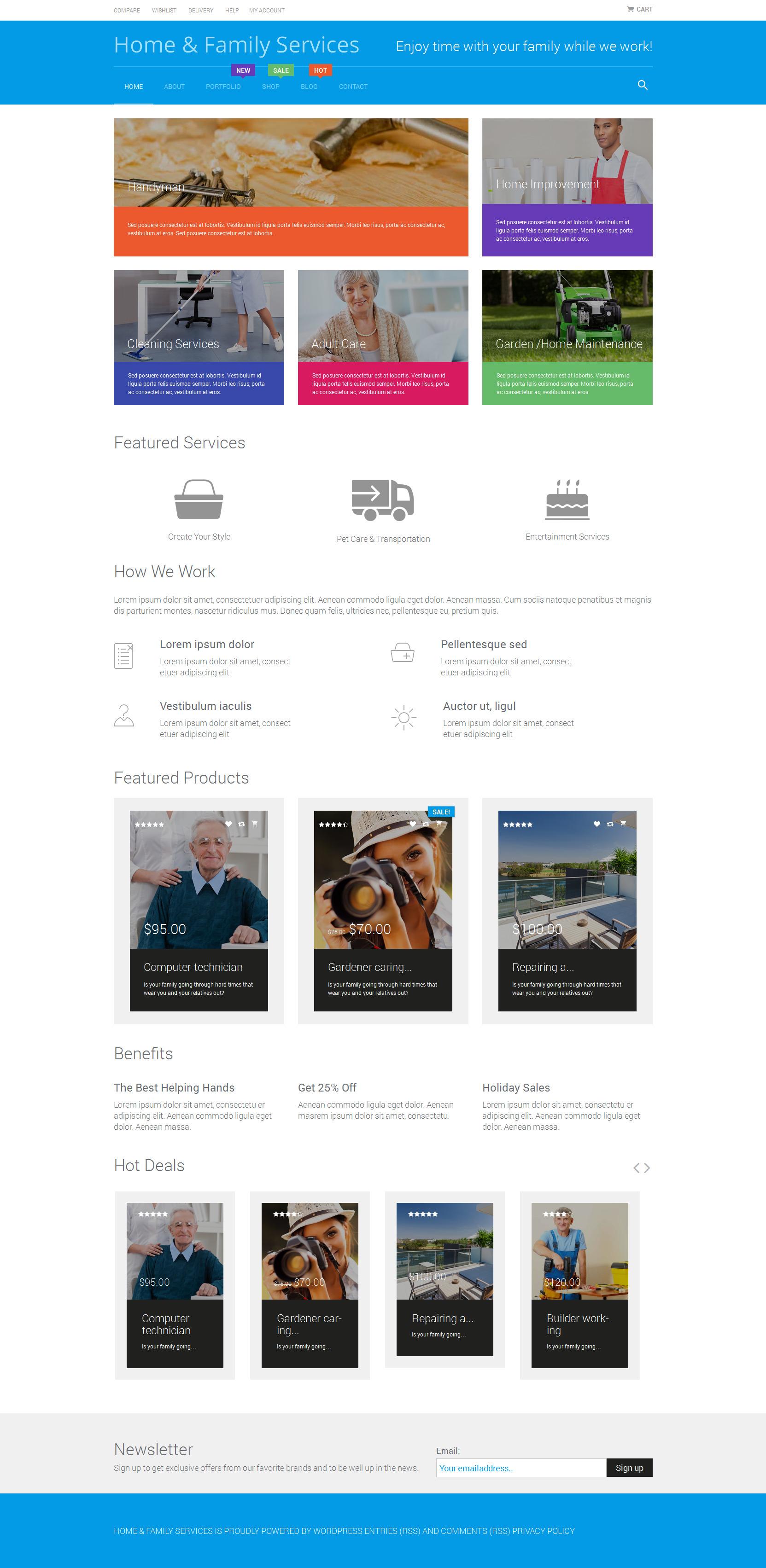 """""""Home Repairs"""" Responsive WooCommerce Thema №52582 - screenshot"""