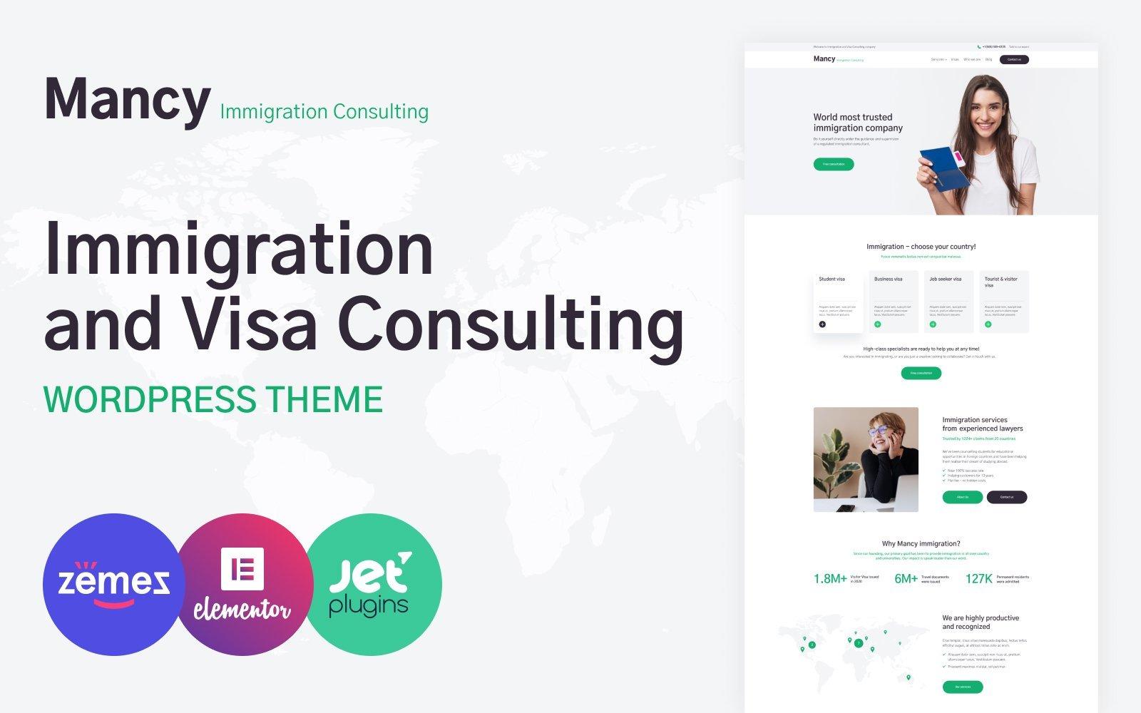 """Immigration Consultancy"" thème WordPress adaptatif #52554"