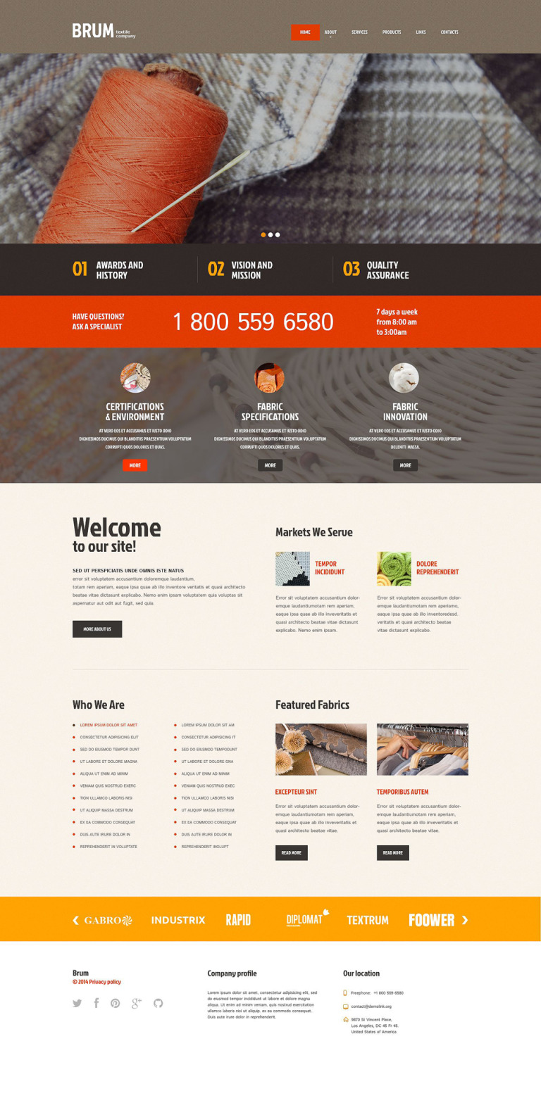 Industrial Responsive WordPress Theme New Screenshots BIG