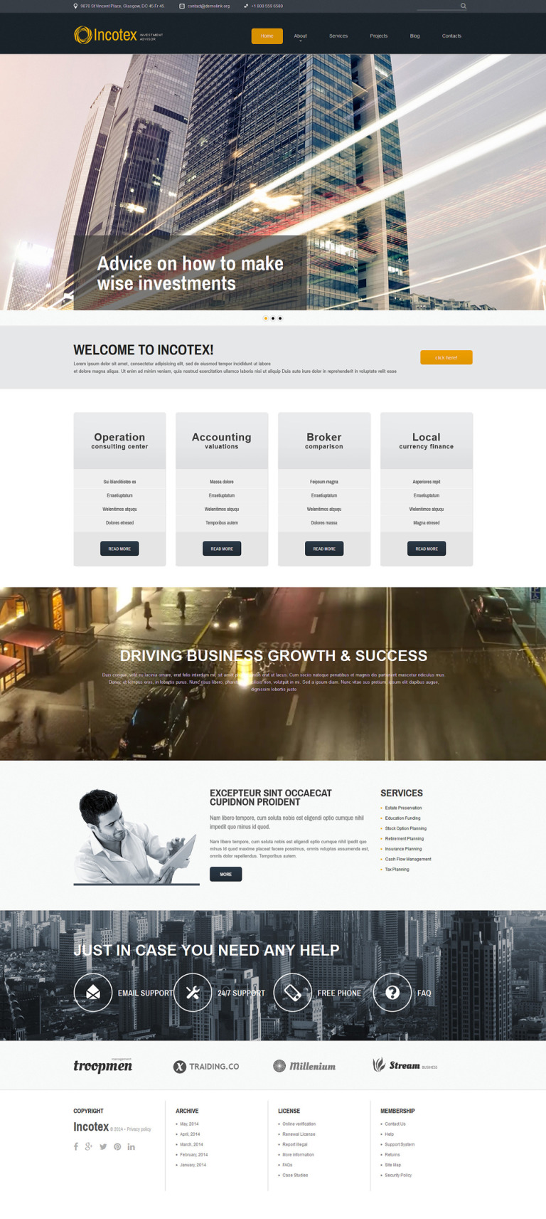 Investment Consultancy Joomla Template New Screenshots BIG