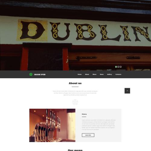 Irish Pub - Responsive Website Template