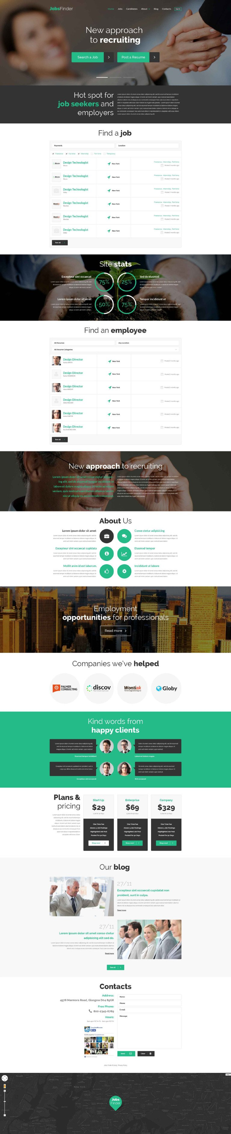Job Portal Responsive WordPress Theme New Screenshots BIG