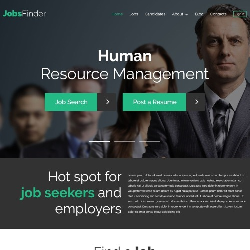 JobsFinder - WordPress Template based on Bootstrap