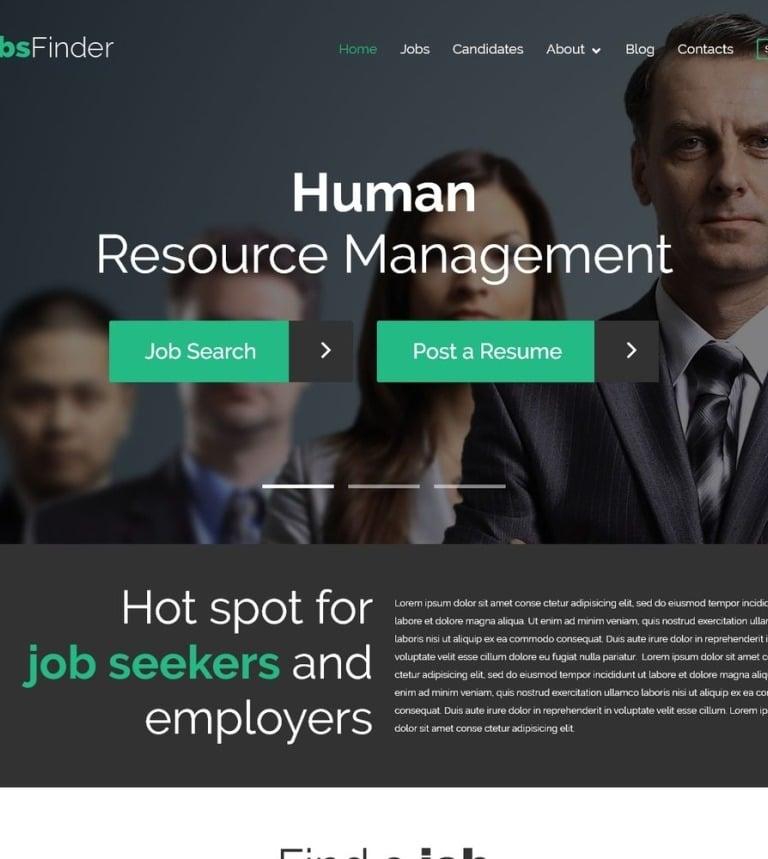 Job Portal Responsive WordPress Theme #52547