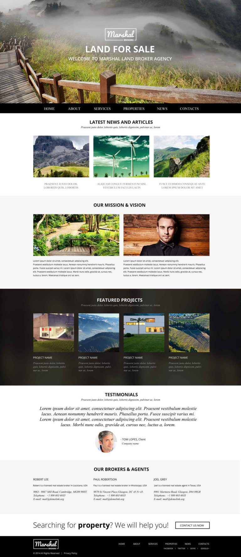 Land Brokers Website Template New Screenshots BIG