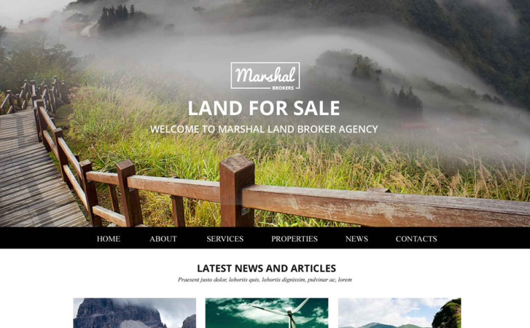 Land Brokers Website Template