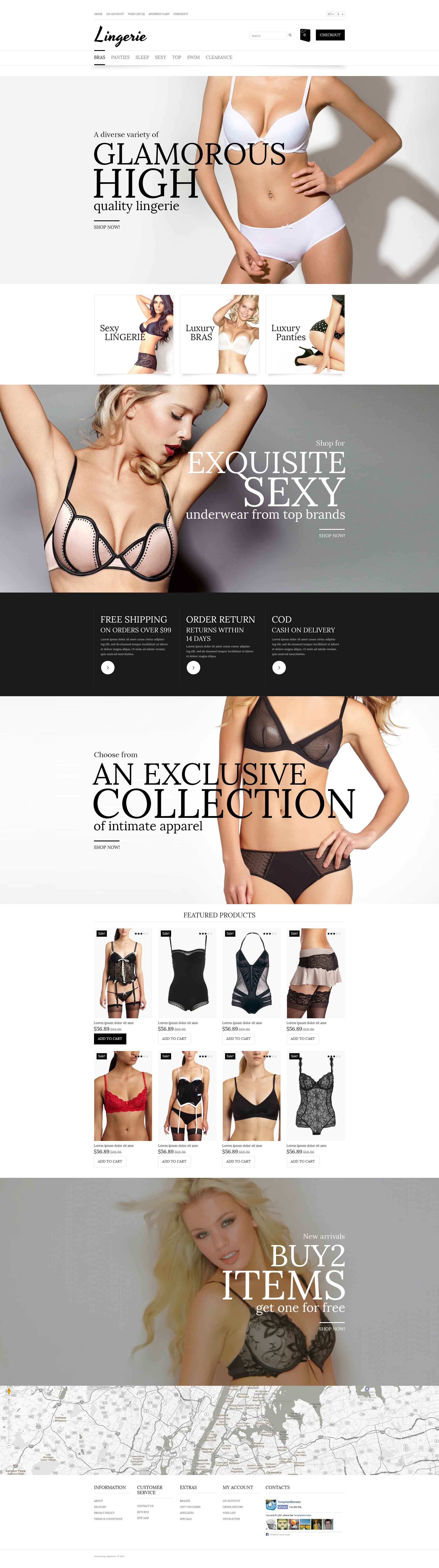 Lingerie Store OpenCart Template - screenshot