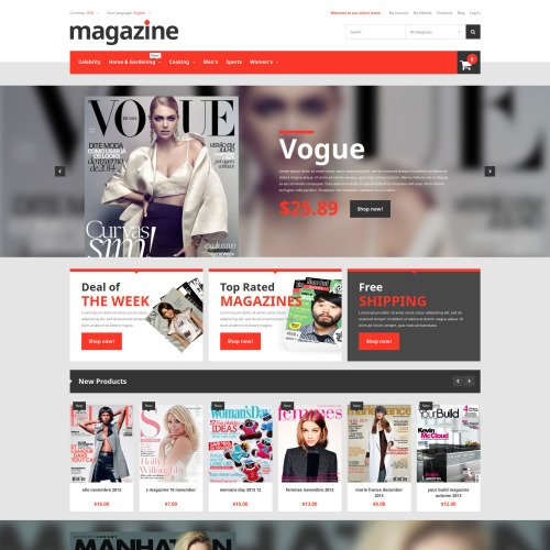 Magazine  - Magento Template based on Bootstrap