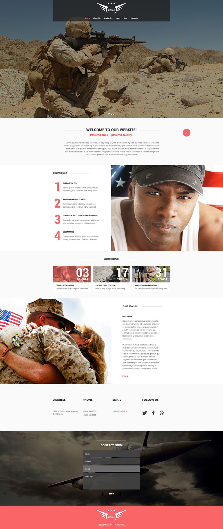 Marine Corps Website Template New Screenshots BIG