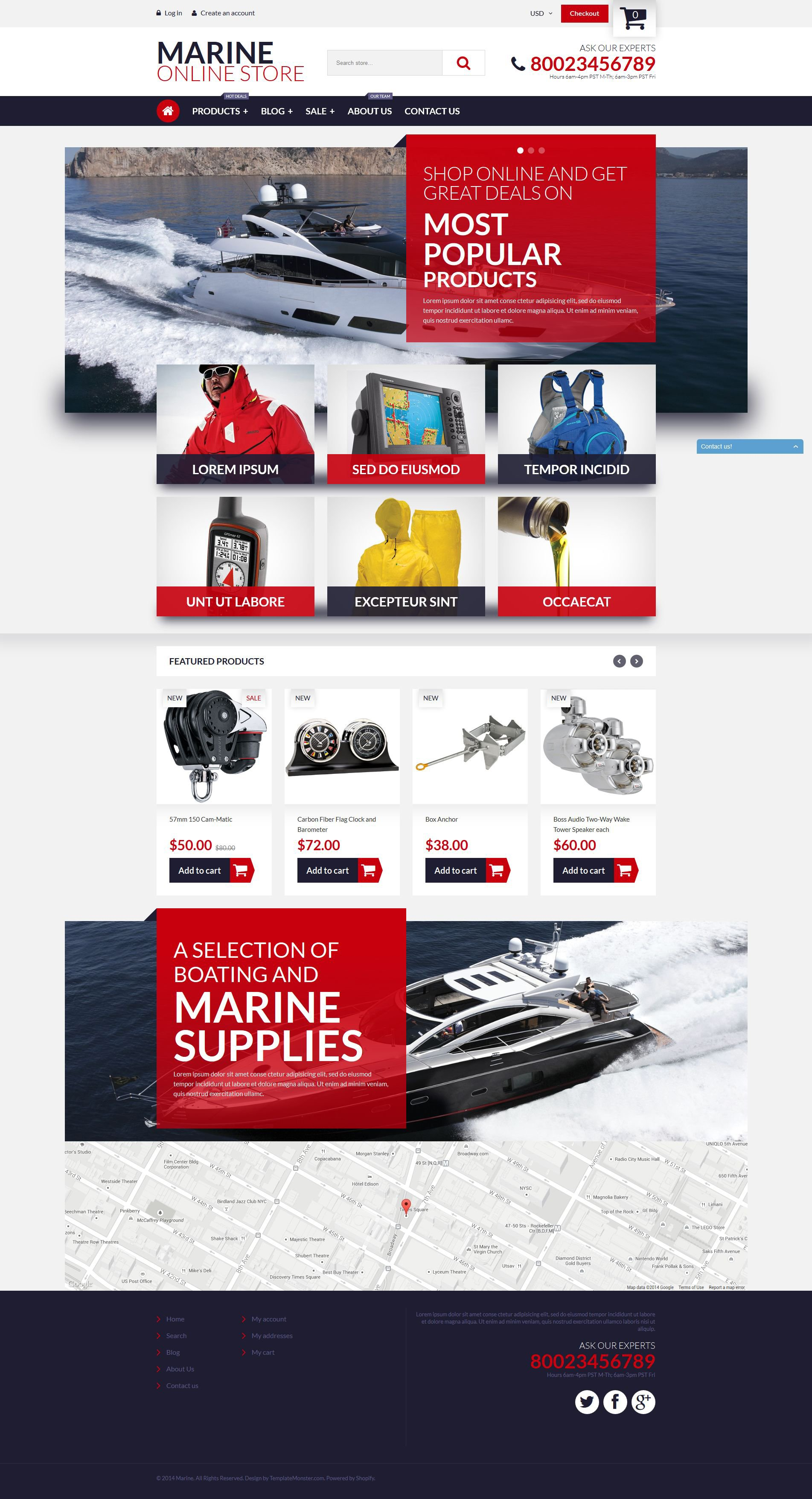 Marine Online Store Shopify Theme