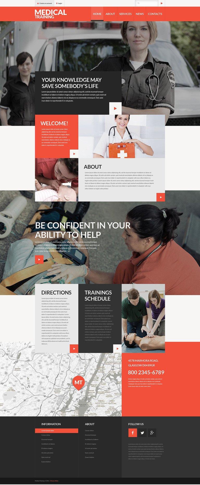 Medical Training School Website Template New Screenshots BIG
