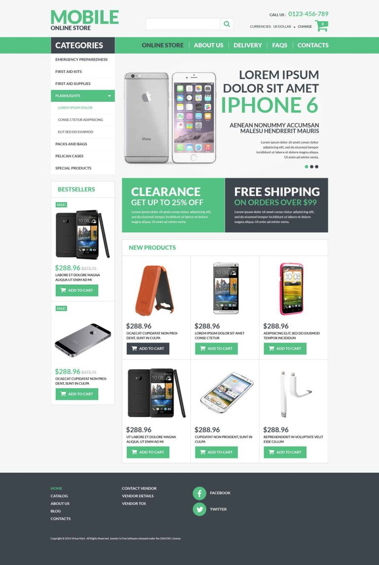Mobile Electronics VirtueMart Template New Screenshots BIG