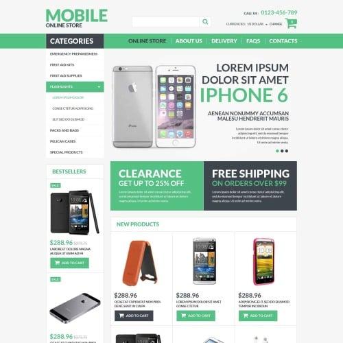 Mobile Online Store - VirtueMart Template based on Bootstrap