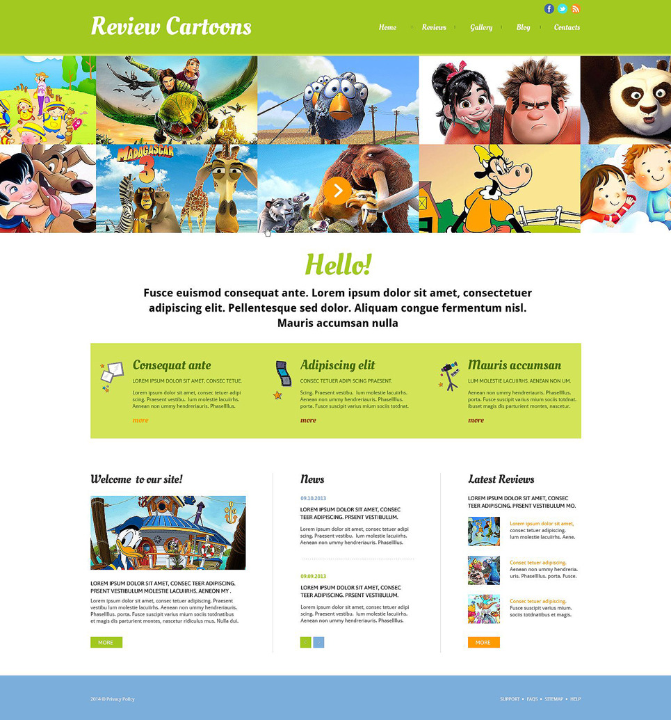 Movie Responsive Website Template New Screenshots BIG