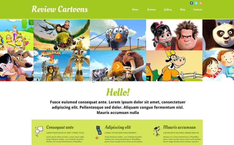 Movie Responsive Website Template