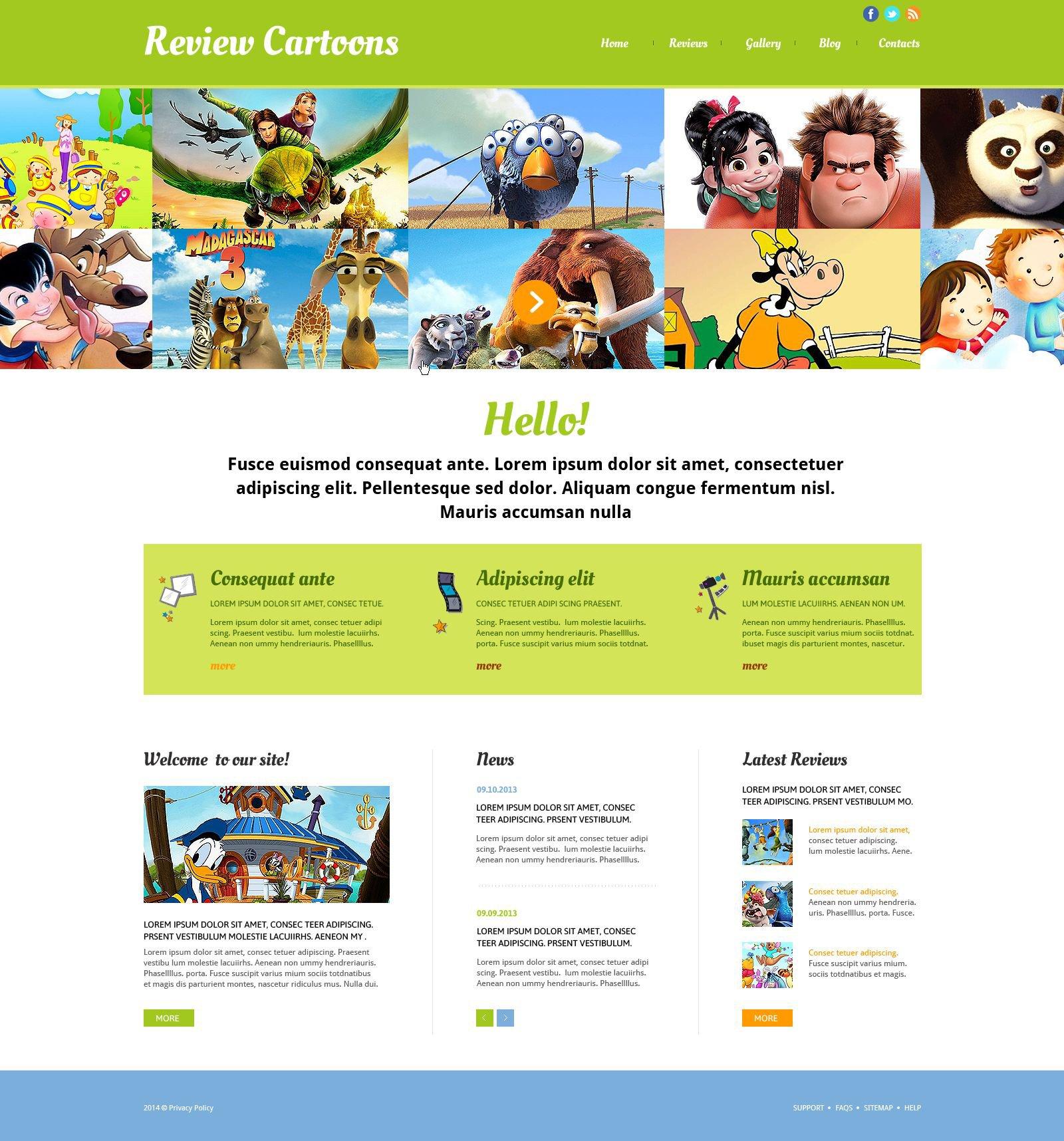 Movie Responsive Website Template - screenshot