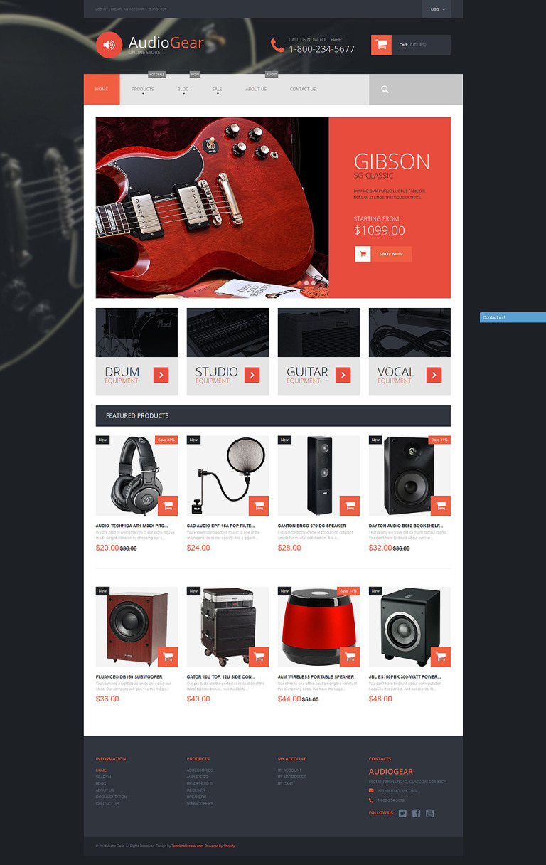 Musical Instruments Shopify Theme New Screenshots BIG