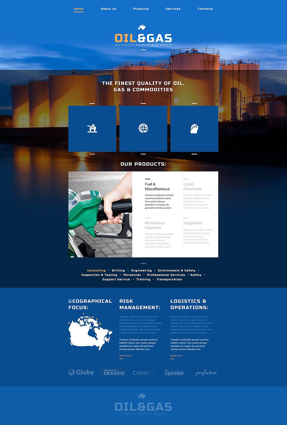 Oil Gas Company Website Template #52502