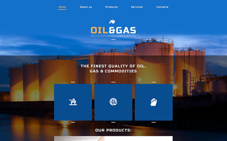 Oil gas company website template 52502 oil gas company website template new screenshots big toneelgroepblik Image collections