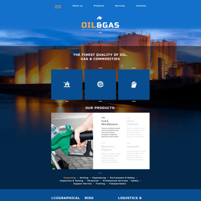 gas website templates oil website templates. Black Bedroom Furniture Sets. Home Design Ideas