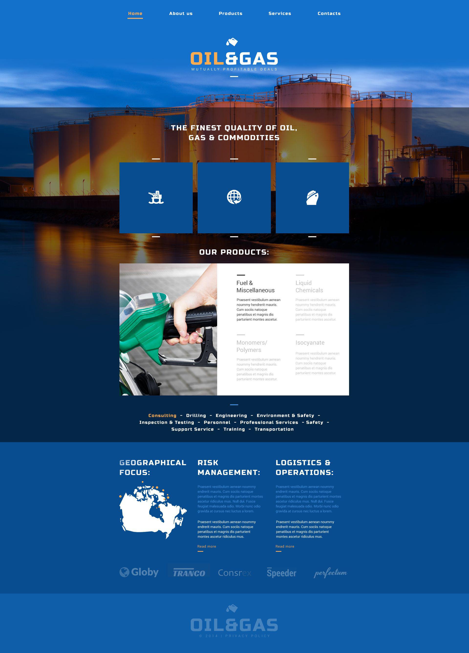 """Oil  Gas Company"" 响应式网页模板 #52502"
