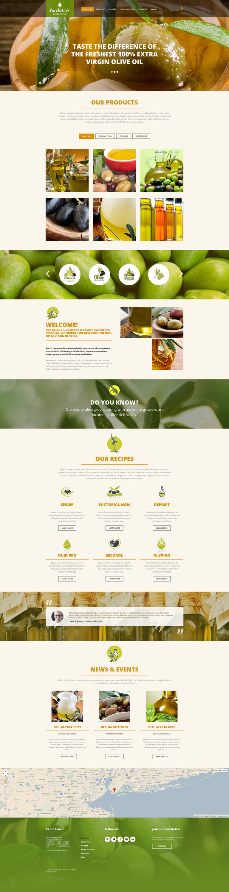 Olive Oil Production Joomla Template New Screenshots BIG