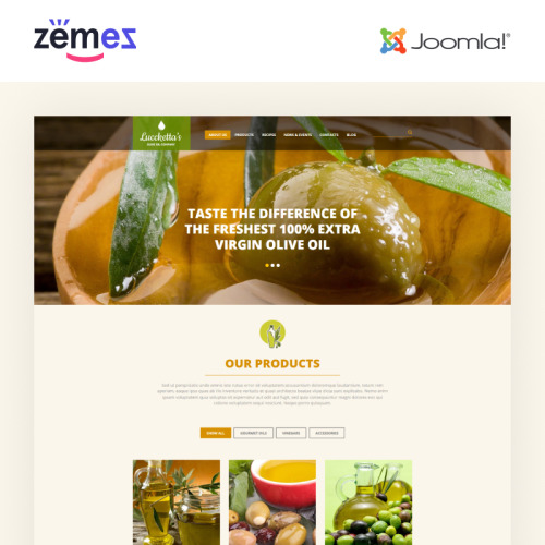 Luccketta's - Joomla! Template based on Bootstrap