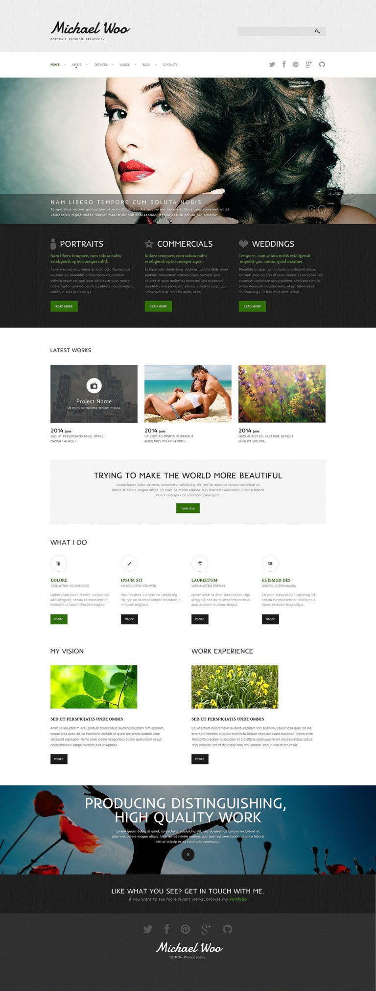 Photo Portfolio Joomla Template New Screenshots BIG